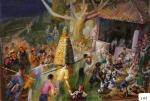 108.O - La ofrenda de Nuestra Señora (70 x 58 Cms) 1.969