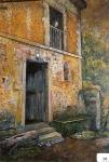 11.O - Palacio de Andrín con mi madre en el balcón (73 x 94 Cms) 1.947