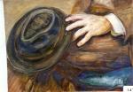 110.O - Estudio de mano y sombrero (46 x 55 Cms) 1.975