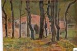 111.O - Estudio del Palacio de Andrín (35 x 50 Cms) 1.944