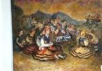 113.O - Romería, o Aldeanos y jota (82 x 66 Cms) 1.981