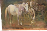 122.O - Estudio de caballos (38 x 25 Cms) 1.945