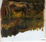 126.O - Estudio - b- Vaca (23 x 23 Cms) 1.965