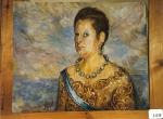 137.O - Boceto de Segunda reina (61 x 50 Cms) 1.986
