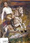 147.O - Retrato de Juanín Purón a caballo a los 17 años en la Cuesdta del Cristo (106 x 145 Cms) 1.978