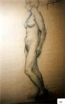 151.D - Desnudo femenino (67 x 102 Cms) Dibujo a carbón