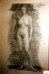 152.D - Desnudo femenino (68 x 103 Cms) Dibujo a carbón
