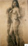 155.D - Desnudo femenino (87 x 157 Cms) Dibujo a carbón