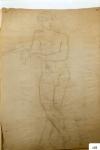 156.D - Dibujo en reposo (77 x 107 Cms) Dibujo a lápiz