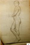 157.D - Dibujo en reposo (77x 107 Cms) Dibujo a lápiz)