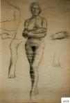158.D - Dibujo en reposo (77 x 107 Cms) Dibujo a lápiz