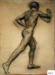 159.D - Dibujo en movimiento (77 x 107 Cms) Dibujo a lápiz)