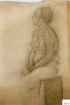 161.D - Dibujo en reposo (77 x 107 Cms) Dibujo a lápiz