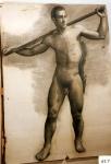 162.D - Desnudo en movimiento (77 x 107 Cms) Dibujo a lápiz