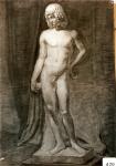 164.D - Efebo (77 x 107 Cms) Dibujo a carbón