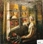 17.O - Mujer con Flores (72 x 71 Cms) 1.975