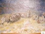 17.O - Paisaje del Cuera o Paisaje de montaña con caballos y sol (89 x 69 Cms) 1.975