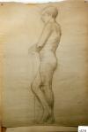 170.D - Dibujo en reposo (77 x 107 Cms) Dibujo a lápiz