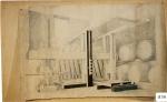 175.D - Dibujo de llagar (77 x 107 Cms) Dibujo a lápiz y tinta