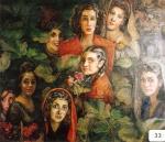 23.O - Mujeres Llaniscas (128 x 108 Cms) 1.983