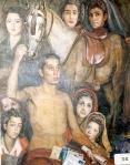 24.O - El cartero siete machos y las mozas (119 x 138 Cms)