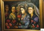 28.O - Mujeres Socialistas o Mujeres con Claveles (98 x 80 Cms) 1.982