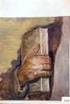 39.O - Estudio de la mano de Juán Purón-Colubi (38 x 34 Cms) 1.977