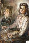 48.O - Conchita y Manolo (81 x 100 Cms) 1.983