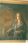 49.O - Retrato de Segunda Colubi con Mantilla en contraluz (106 x 99 Cms) 1.961