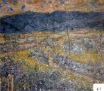 50.O - Paisaje desde Los Altares, o El Cuera y postes de luz (99 x 88 Cms) 1.952