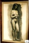 52.D - Desnudo femenino (70 x 107 Cms) Dibujo a carbón