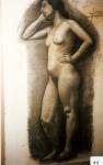 53.D - Desnudo de Mujer (70 x 107 Cms) Dibujo a carbón