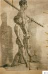 55.D - Desnudo en movimiento (77 x 105 CmS) Dibujo a lápiz