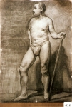 56.D - Desnudo en movimiento (77 x 107 Cms) Dibujo a lápiz