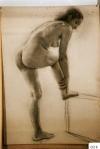 58.D - Desnudo femenino (77 x 107 Cms) Dibujo a carbón