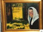 58.O - Retrato de mi madre, o Mi madre en el campo con el pañuelo blanco (71 x 58 Cms) 1.947