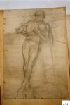 60.D - Apunte para desnudo con niño en brazos (77 x 107 Cms) Dibujo a lápiz