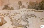 60.O - La nevada (77 x 58 Cms) 1.938