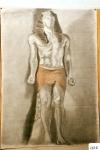 62.D - El egipcio de Juán Purón-Colubi (Hijo del artista) (77 x 107 Cms) Dibujo a carbón y sanguina