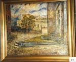 65.O - Palacio quemado (71 x 59 Cms) 1.956
