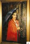 66.O - Llanisca hacia misa con paraguas (76 x 114 Cms) 1.948