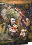 71.O - Juguetes de Reyes en la hierba (49 x 64 Cms) 1.980
