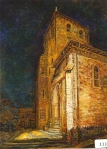 84.O - Basílica, fachada oeste en amarillo (66 x 88 Cms) 1.965