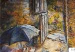86.O - Paraguas y madreñas de D. Remigio (100 x 81 Cms) 1.979)