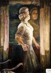 90.O - Retrato de mi esposa con reflejo en el cristal (108 x 130 Cms) 1.980